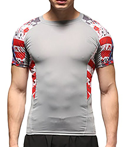 Men's Sport Quick Dry Short Sleeve T-Shirt Tee (Morph Suit Sizing)