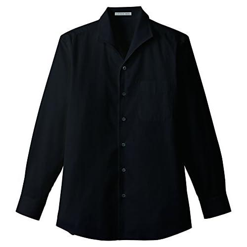 (フェイスミックス)FACEMIX メンズイタリアンカラー長袖シャツ FB5033M 16 ブラック 4L