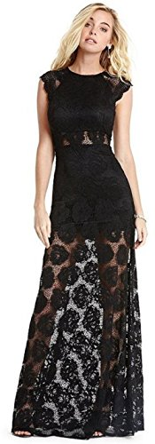 MARCIANO MAGGIE LACE MAXI DRESS - BLACK - XS