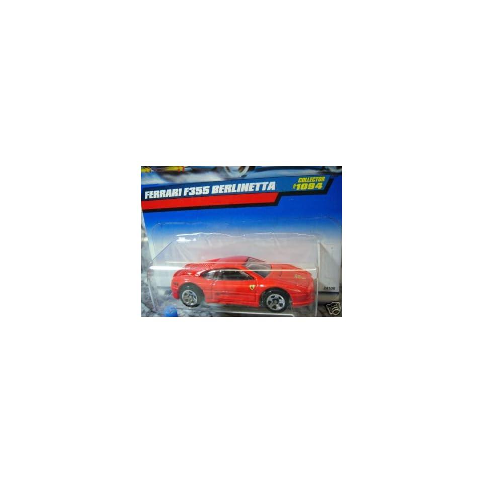 Mattel Hot Wheels 1999 164 Scale Red Ferrari F355 Berlinetta Die Cast Car Collector #1094