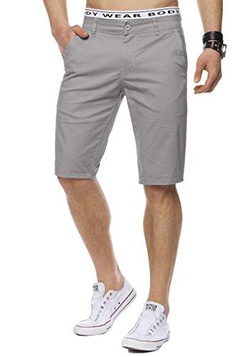 Uomini tratto Chino Bermuda William ID1442 Slim Fit, Farben:Grey;Größe-Shorts:W36