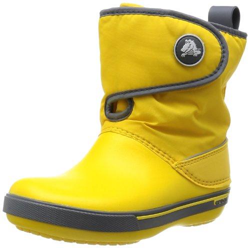 Crocs, Crocband II.5 Gust Boot Kids, Stivaletti, Unisex - Bambino, Yellow/Charcoal, 29/30