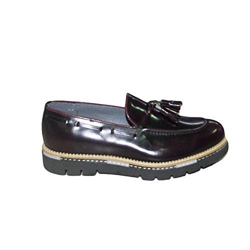 mocassino scarpe uomo bordeaux nappe vera pelle made in italy lucido abrasivato bordeaux fondo marechiaro (44)