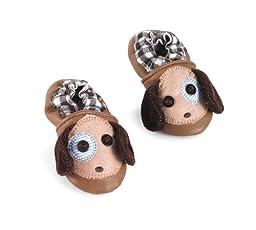 Mud Pie Baby-Boys Newborn Puppy Pre Walker Shoes, Multi, 0-6 Months