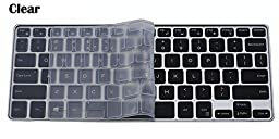 CaseBuy Ultra Thin Silicone Keyboard Protector Cover Skin for Dell XPS 13-9343 13-9350 13-9360 13.3-Inch Ultrabook Computer (Clear)