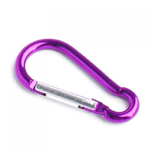 1-x-Mousqueton-Porte-cls-en-Aluminium-Camping-Randonne-Violet