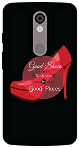 The Racoon Lean printed designer hard back mobile phone case cover for Motorola Moto X Force. (Good shoes)