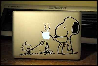 Apple Macbook Pro & Air Laptop Decal/Sticker: Camping Snoopy front-40555