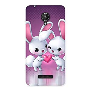 Ajay Enterprises 2 Cute White Kitty Back Case Cover for Micromax Canvas Spark Q380