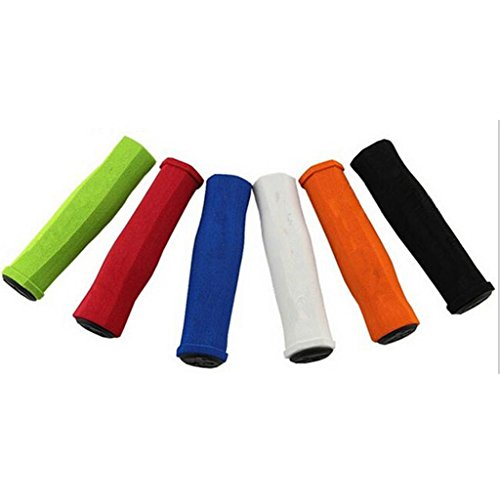 Mountain Bike Grips Lock On Locking Soft Nonslip Handlebar Cycle Bicycle