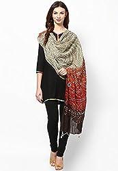 Soundarya Ethnicwear Cotton Bandhej Handwork Dupatta for Women (3063)