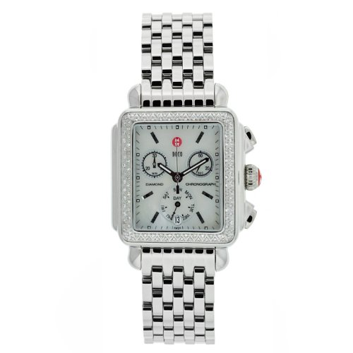 Michele Women's MWW06P000001 Deco Diamond Quartz Watch