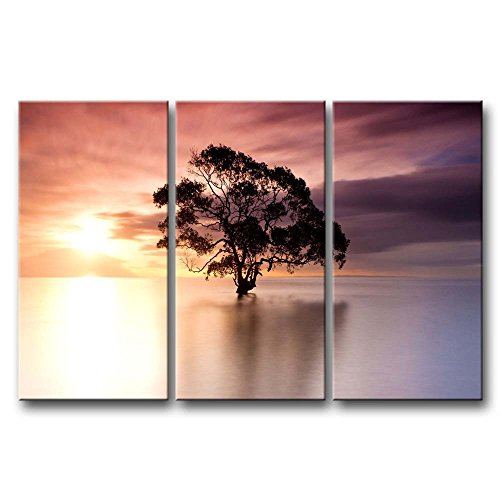 3 Pieces Wall Art Painting Tree In Nudgee Beach Australia At Dusk Prints On Canvas The Picture Landscape Pictures Oil For Home Modern Decoration Print Decor For Kitchen