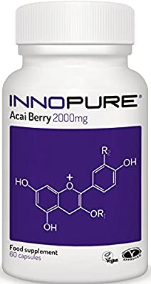 Acai Berry Extract 100% Pure   High Strength 4,000mg / Daily Dose   1 Month Supply   Innopure® from Innopure