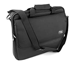 DURAGADGET Brief case style laptop / notebook carry case with shoulder strap for Dell Latitude E5500 (L0255003) (L55003)
