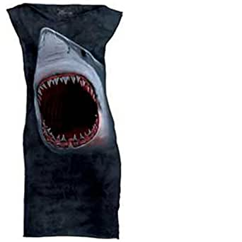 Shark Face Dress Halloween Costume Women's S M L Blue-Black