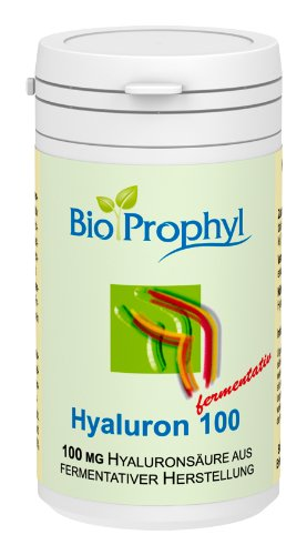 BioProphyl® Hyaluron 100 mg fermentativ - rein fermentativ hergestellte Hyaluronsäure - 60 Vegi.-Kapseln