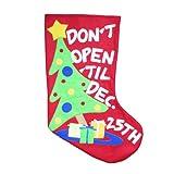 Gisela Graham Large Christmas Stocking 2012 'Don't Open 'til Dece 25th'