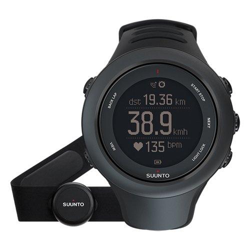 Suunto Ambit3 Sport GPS Multisport Watch (Black w/ Heart Rate Sensor)