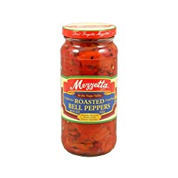 Mezzetta Red Bell Peppers, Roasted, 15-Ounce (Pack of 6)