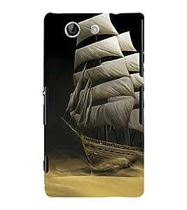 Sailboat wallpaper 3D Hard Polycarbonate Designer Back Case Cover for Sony Xperia Z4 Mini :: Sony Xperia Z4 Compact