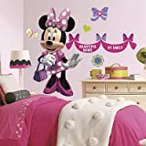 (27x40) Minnie Mouse Bowtique Peel & Stick Wall Decals w/Personalization
