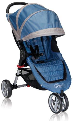Baby Jogger 2012 City Mini Single Stroller, Blue/Gray front-17049