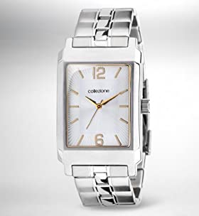 Collezione Rectangular Face Two Tone Watch
