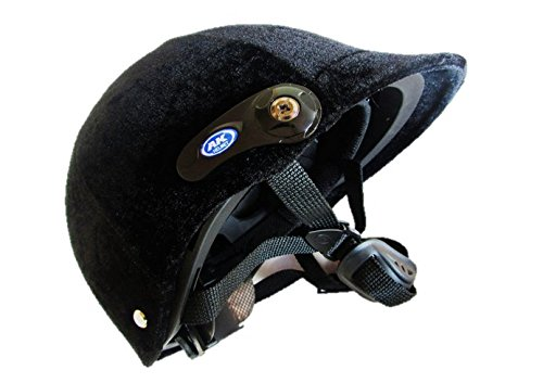 Riding helmet suede style black adjustment available 52-60 cm black horse riding Jockey Safety light