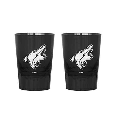 NHL Arizona Coyotes Color Plastic Collectible Shot Glass, 2-ounce, 2-Pack