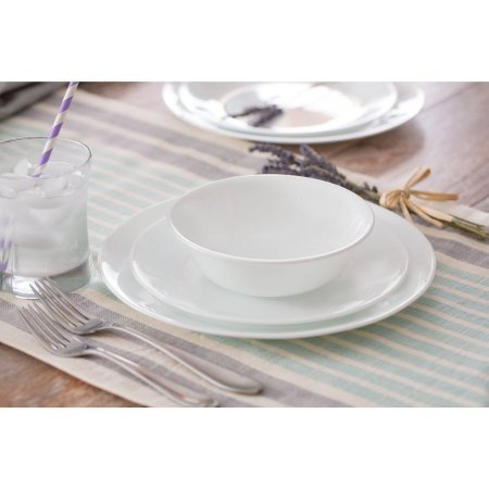 Corelle Livingware Winter Frost 32-Piece Dinnerware Set, Service for 8 (32 Piece Corelle Dinnerware Set compare prices)