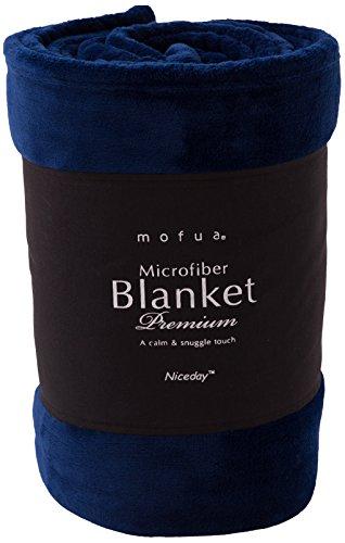 mofua モフア プレミアム マイクロファイバー 毛布 シングル ネイビー 50000107