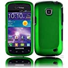 Bundle Accessory for Samsung Galaxy Proclaim S720C (Straight Talk) Phone - Dark Green Rubberized Protective Hard Case Snap On Cover + SogaWireless Stylus Pen [SWB147]