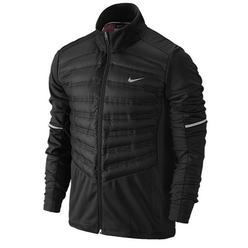 Nike Aeroloft Hybrid Running Jacket 2014 Black sz SMALL 616245-010 $250