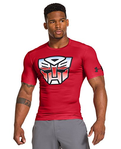 Under Armour Men's Alter Ego Transformers Autobots Classic Compression Shirt Extra Large Red