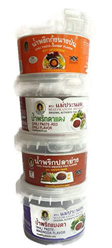 4 mix of Authentic Thai Chili Paste Set (Namprik) (3 Oz x 4) (Kikkoman Soya Sauce compare prices)