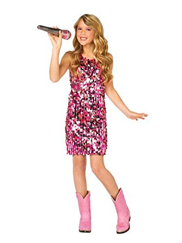 Girls Pink Country Diva Costume Sequin Dress