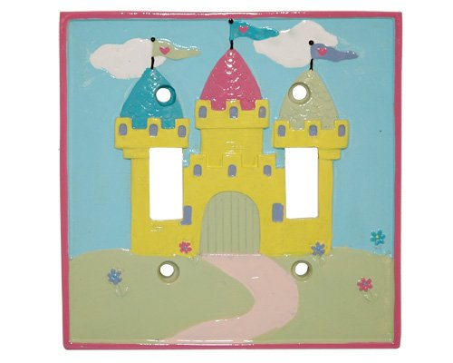 PRINCESS castle DOUBLE light SWITCHPLATE COVER girls