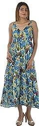 HotShot Women's Cotton V-Neck Dress (RH019, Medium)