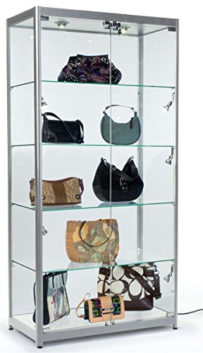 tempered-glass-curio-cabinet-with-8-halogen-lights-78-x-40-x-165-inch-free-standing-locking-hinged-d