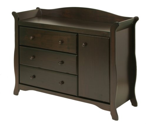 Stork Craft Aspen Combo Dresser Chest, Espresso