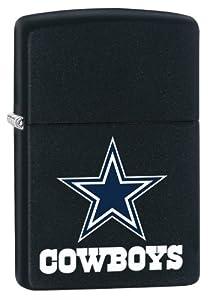 Zippo Lighter - NFL Dallas Cowboys Black Matte by Unknown