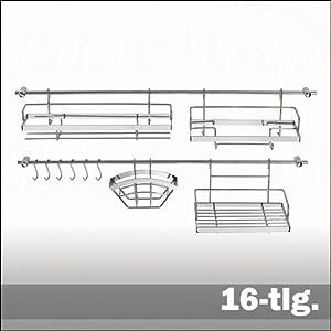 Sistema de barras colgar complementos cocina 16 piezas for Complementos cocina