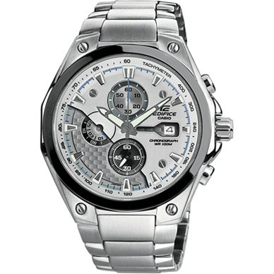 Casio Edifice Men's Ef564d-7avdf Stainless Steel Chronograph Sport Silver Dial Watch