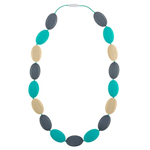 Chew-Choos - 'Pat-a-Cake' Silicone Teething Necklace - Modern Chic Baby Teether (Oceana)