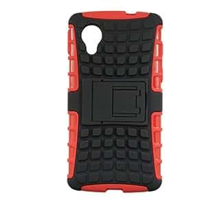 Jo JoKick Stand Armor Hybrid Case Cover Bumper Designed For LG Nexus 5 Black Red