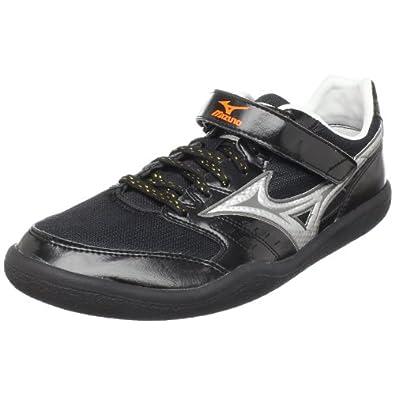 Mizuno Unisex Shot & Discus Track Footwear,Anthracite/Silver-Red Orange,US Women's 7.5/ US Men's 6 M
