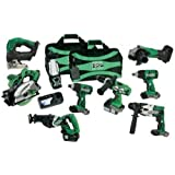 Hitachi KC18DY9L 18V Cordless Lithium 9 Tool Combo Kit