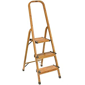 Amazon Com Polder 3 Step Ultralight Ladder Woodgrain