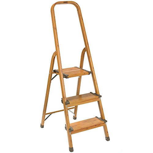 Polder 3 Step Ultralight Ladder Woodgrain Hardware Tools